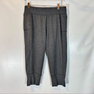CALIA HEATHER GRAY CROPPED JOGGER SIZE M